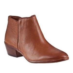 Sam Edelman Petty Ankle Bootie Saddle Leather NEW